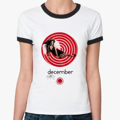 Женская футболка Ringer-T December