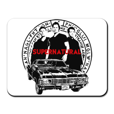 Коврик для мыши Supernatural -Сэм, Дин и Кас