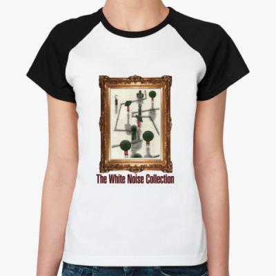 Женская футболка реглан  WNC бел/чёрн
