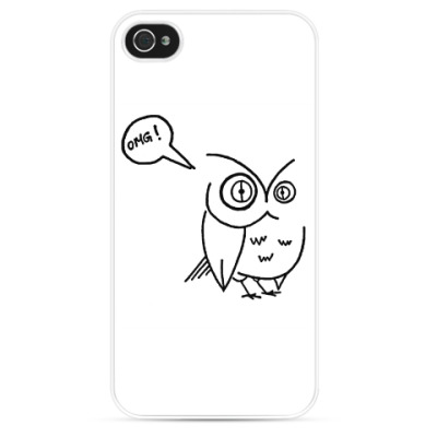 Чехол для iPhone сова OMGowl