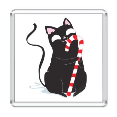 Магнит Кот и конфета