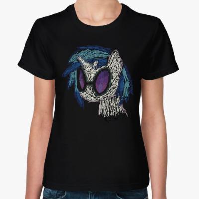 Женская футболка Vinyl Scratch