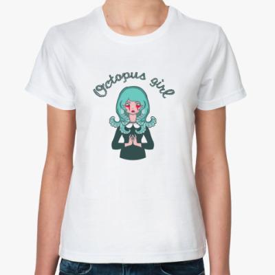 Классическая футболка Octopus Girl