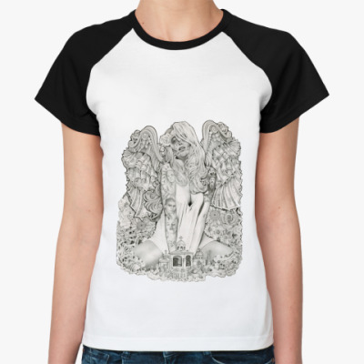 Женская футболка реглан Money Angel