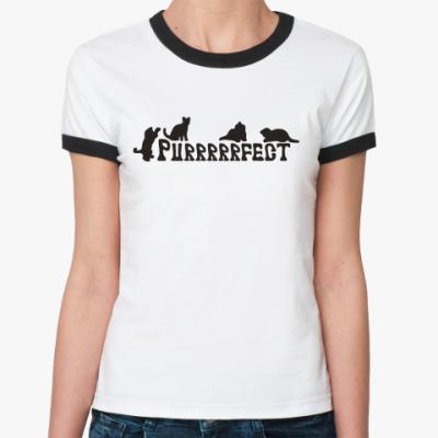 Женская футболка Ringer-T Purfect