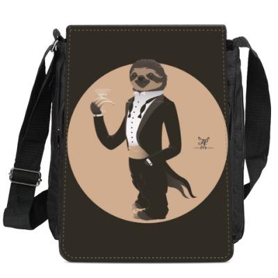 Сумка-планшет Animal Fashion: S is for Sloth in Smoking