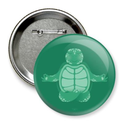 Значок 75мм Animal Zen: T is for Turtle