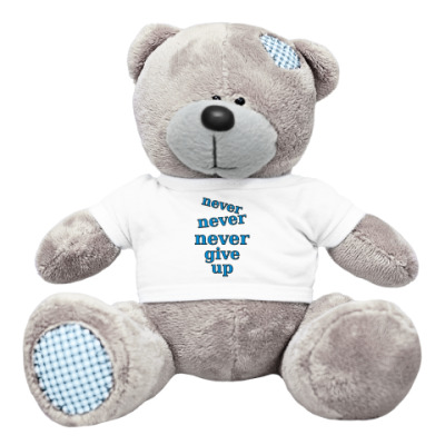 Плюшевый мишка Тедди Never give up