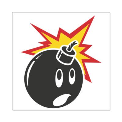 Наклейка (стикер)  hundreds bomb
