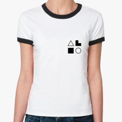 Женская футболка Ringer-T  ИЭИ (Есенин)