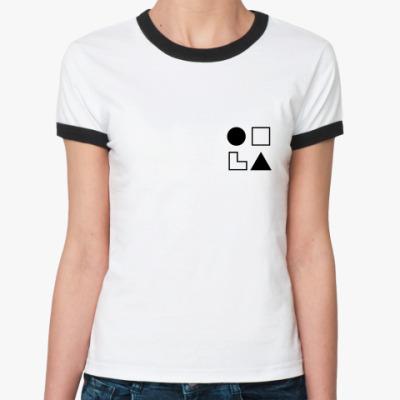 Женская футболка Ringer-T  СЛЭ (Жуков)