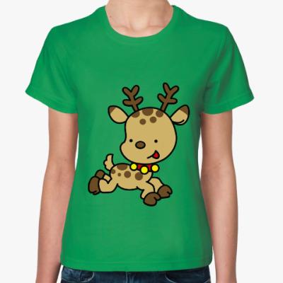 Женская футболка Олененок