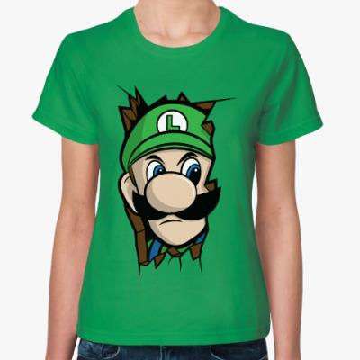 Женская футболка Луиджи Марио