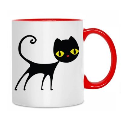 Кружка Черный кот