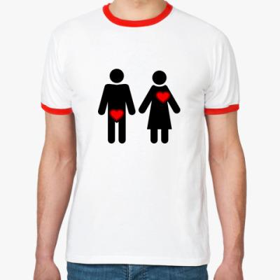 Футболка Ringer-T Мужчина и женщина