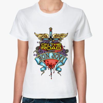 Классическая футболка  Bon Jovi