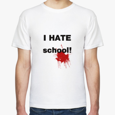 i hate school Shop i hate school t-shirt created by phil13 personalize it with photos & text or purchase as is.