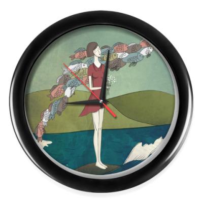 Настенные часы Рыбки