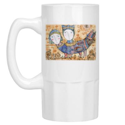 Пивная кружка Мифическая птица