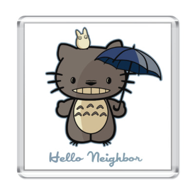 Магнит Hello Totoro