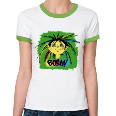 Женская футболка Ringer-T Веселая рожица
