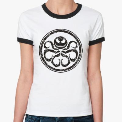 Женская футболка Ringer-T Осьминог Скеллингтон