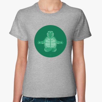 Женская футболка Animal Zen: T is for Turtle