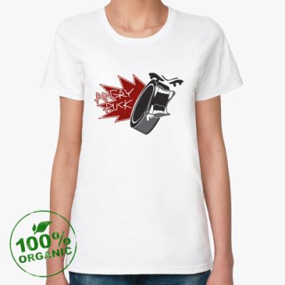 Женская футболка из органик-хлопка Angry Puck