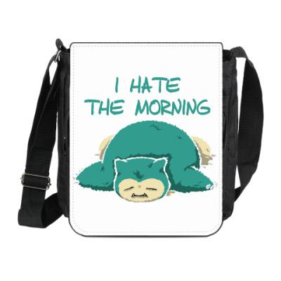 Сумка на плечо (мини-планшет) Я ненавижу утро