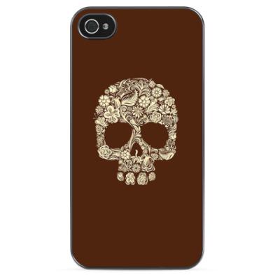 Чехол для iPhone Flower Skull
