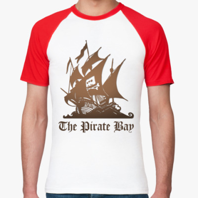Футболка реглан  пират the pirate bay