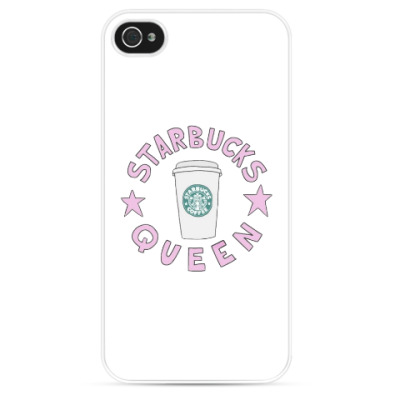 Чехол для iPhone starbuks queen