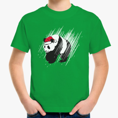 Детская футболка Санта-панда