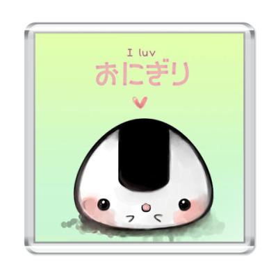 Магнит  I Love Onigiri