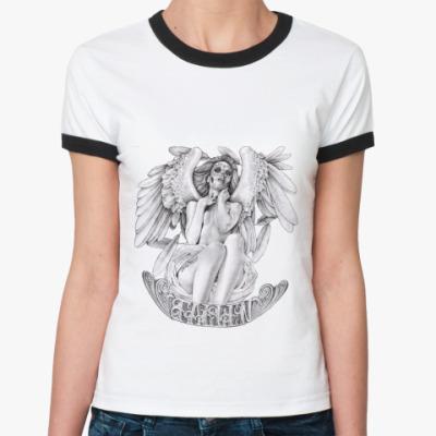Женская футболка Ringer-T Fallen Angel