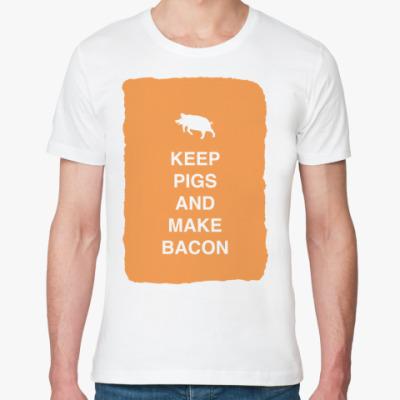 Футболка из органик-хлопка Keep pigs and make bacon