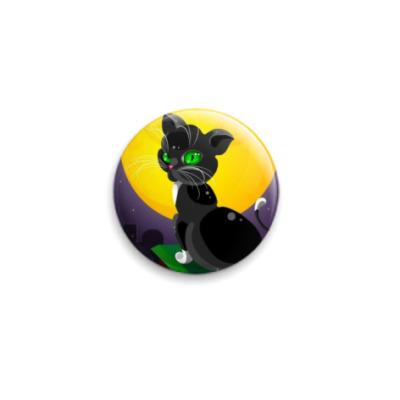 Значок 25мм лунная кошка
