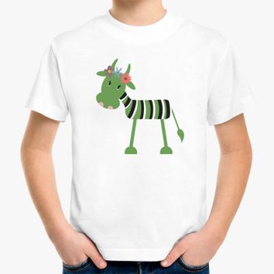 Детская футболка 'Зелёная корова'