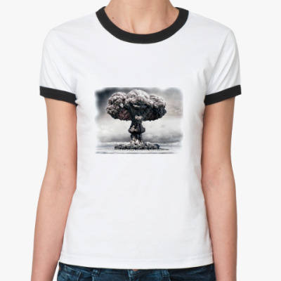 Женская футболка Ringer-T Ядерный клоун