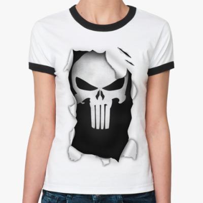 Женская футболка Ringer-T 'Каратель'
