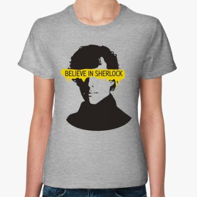 Женская футболка Sherlock Holmes