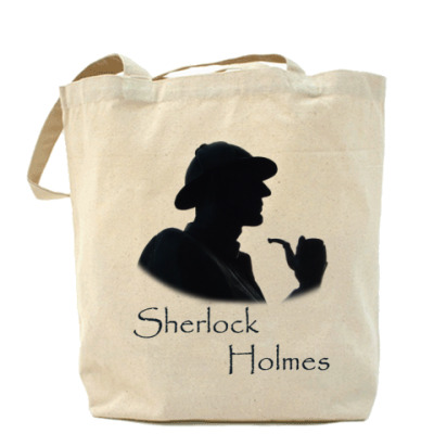 Сумка ~Шерлок Холмс~Холщовая сумка