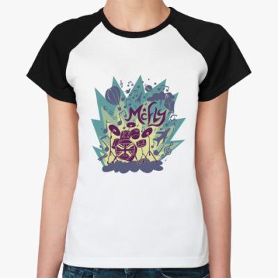 Женская футболка реглан music fly