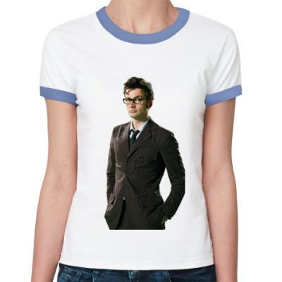 Женская футболка Ringer-T David Tennant
