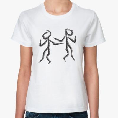 Классическая футболка танцующие человечки