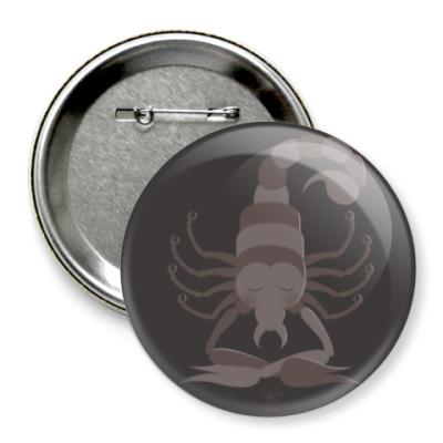 Значок 75мм Animal Zen: S is for Scorpion