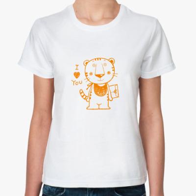 Классическая футболка Tiger in Love