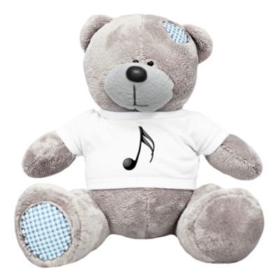 Плюшевый мишка Тедди Мишка с нотой