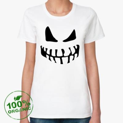 Женская футболка из органик-хлопка Зомби/Привидение