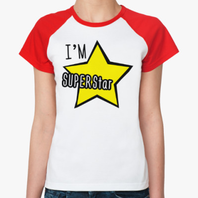Женская футболка реглан I'm Superstar